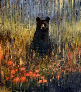 Black Bear Contemplating Autumn