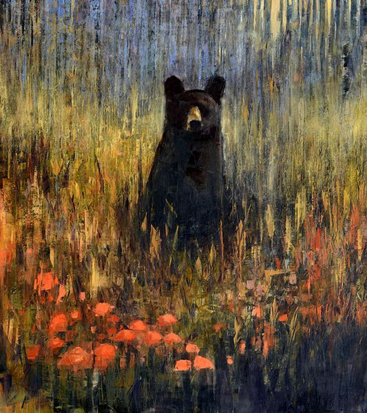 Black Bear Contemplating Autumn