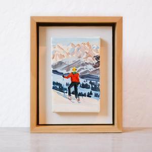 Skier Miniature Two