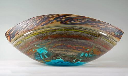 Canyon Walls Vessel Turquoise