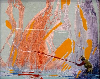 Fly Fisherman, Falling Yellow