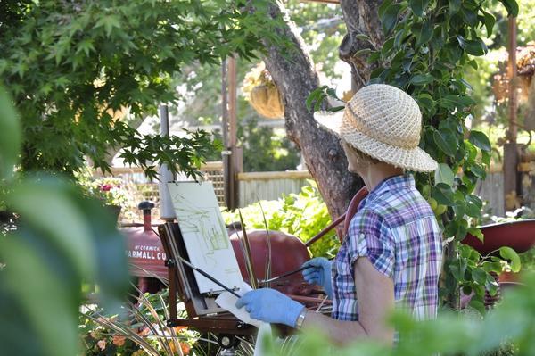 Plein Air Paint Out at the Garden Stroll