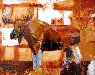 Bull Moose in Sienna