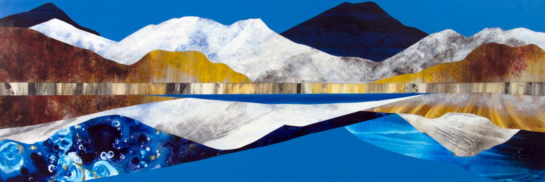 Winter Mountain, Bluebird Sky