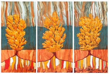 Yellow Poplar Triptych