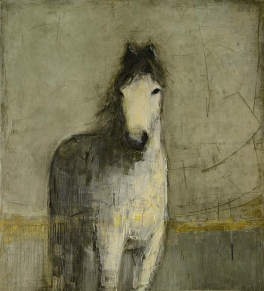 White Horse (on Grey)