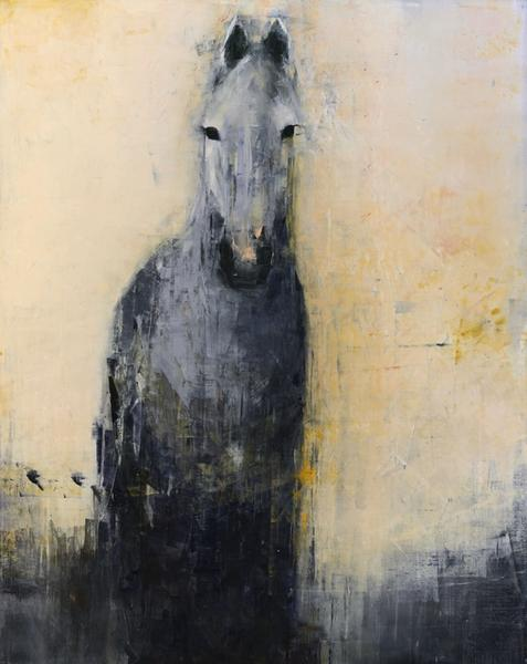 Grey Horse on Gold