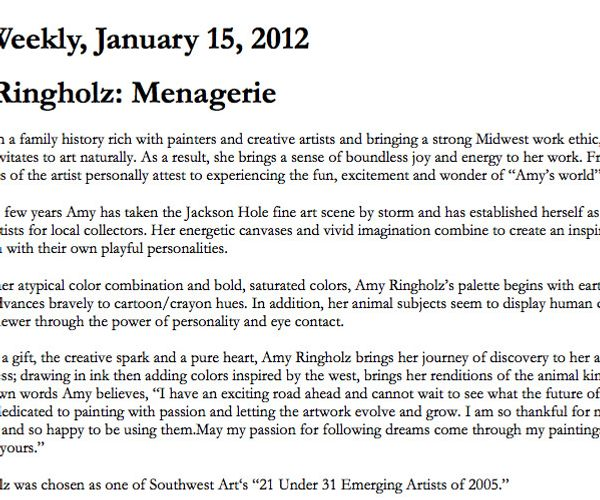 Amy Ringholz Menagerie