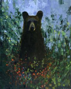 Black Bear with Berries