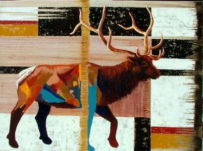 Elk with Blue Legs