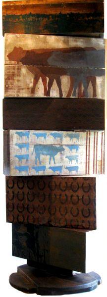 Six Degrees (Totem Sculpture)