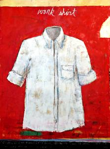 Work Shirt, Red and White