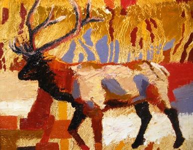 Elk in Ochre