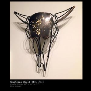 Pinstripe Skull III