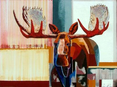 Bull Moose in Color