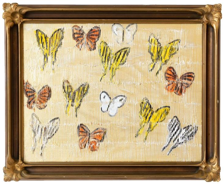 Untitled Butterflies on Gold