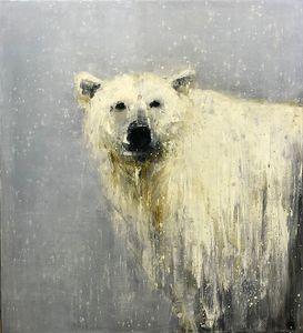 Polar Bear Contemplating First Snow