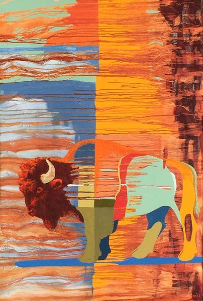 Bison Tapestry