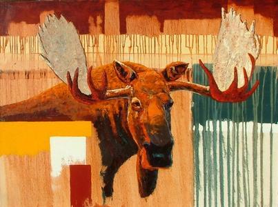 Bull Moose with Sienna Sky