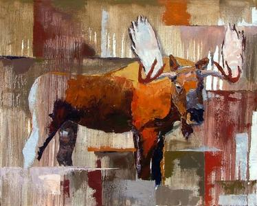 Bull Moose with Ochre