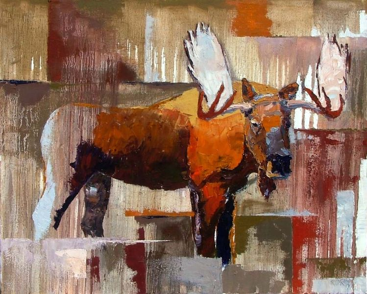 Bull Moose with Ochre