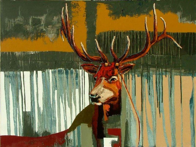 Wasatch Elk with Ochre Sky