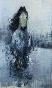 Grey Horse with Snow