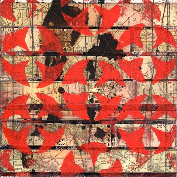 Paper and Pattern 4, Map Quilt Series
