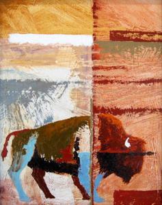 American Bison, Blue Legs