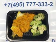 <p>Треска под майонезом с брокколи. Приготовлена и заморожена. Перед употреблением необходимо разогреть в микроволновой печи 2-3 мин. Состав: Филе трески, брокколи, морковь, лук, майонез, масло растительное, соль, перец черный молотый. Условия хранения 90 суток при t -18°.</p>