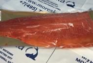 Филе лососёвых рыб на коже подкопчённое