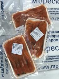 Нарезка из филе лососевых рыб слабосоленое, упаковка 200 грамм