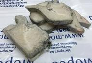 <p>Стейк из зубатки синей. Мурманск. Вес одного стейка примерно 200-300г. Продаётся поштучно, на развес и коробками (5кг).</p>