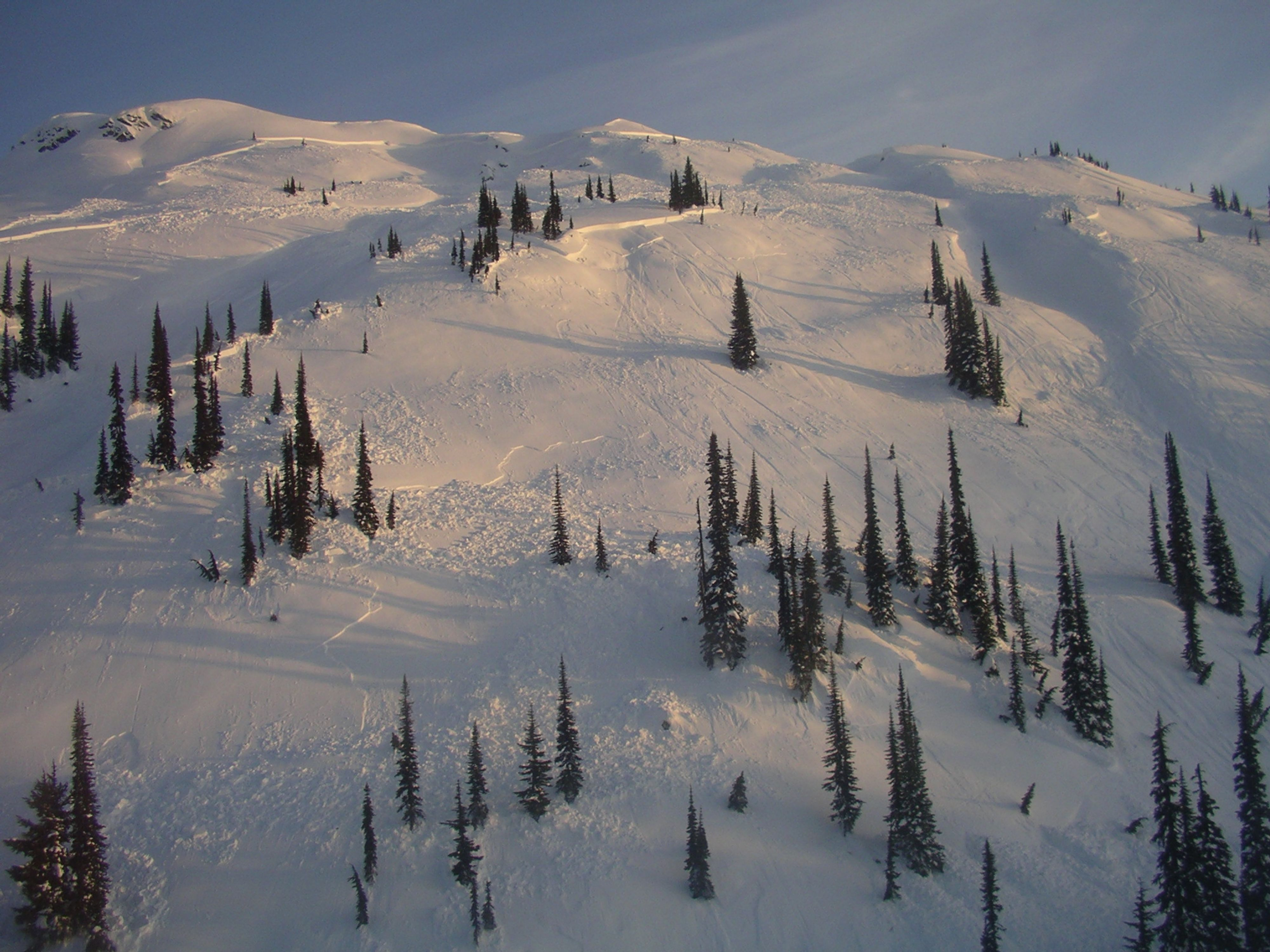 An avalanche in Eagle Pass.