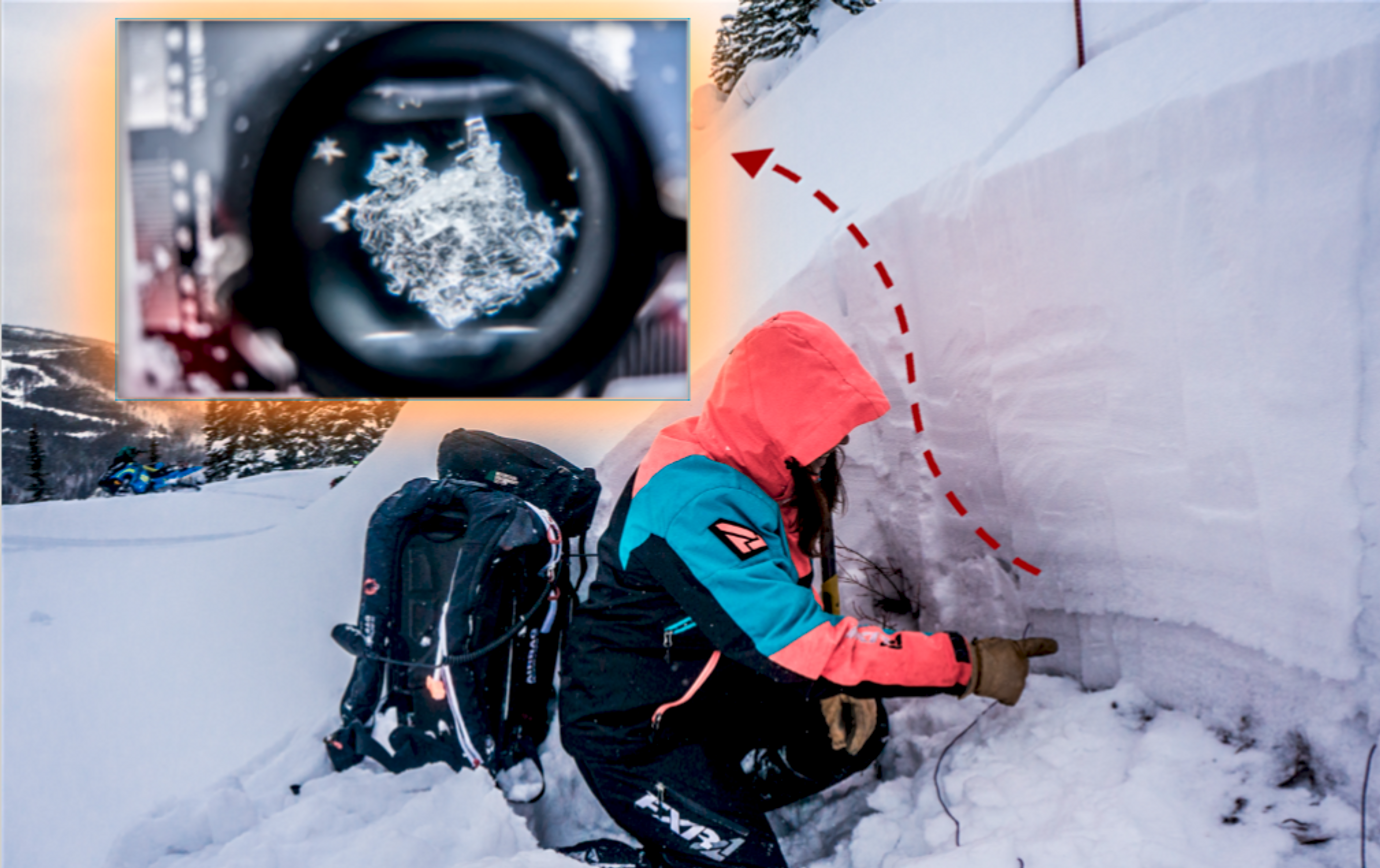 These are large, cup-shaped crystals that most commonly form at the base of shallow snowpacks in cold climates. It can create a deep persistent weak layer that lasts for an entire season.