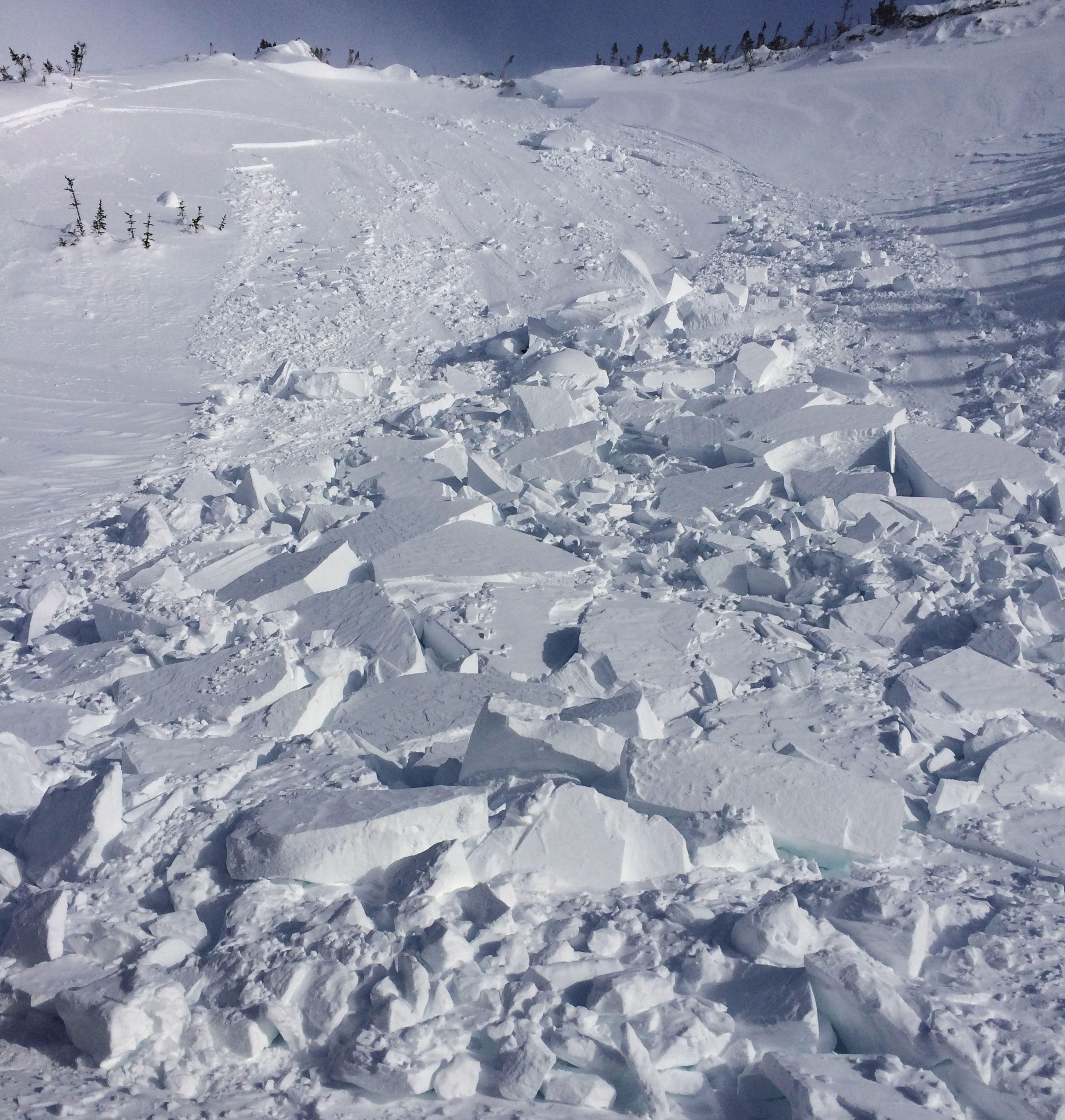 A slab avalanche.
