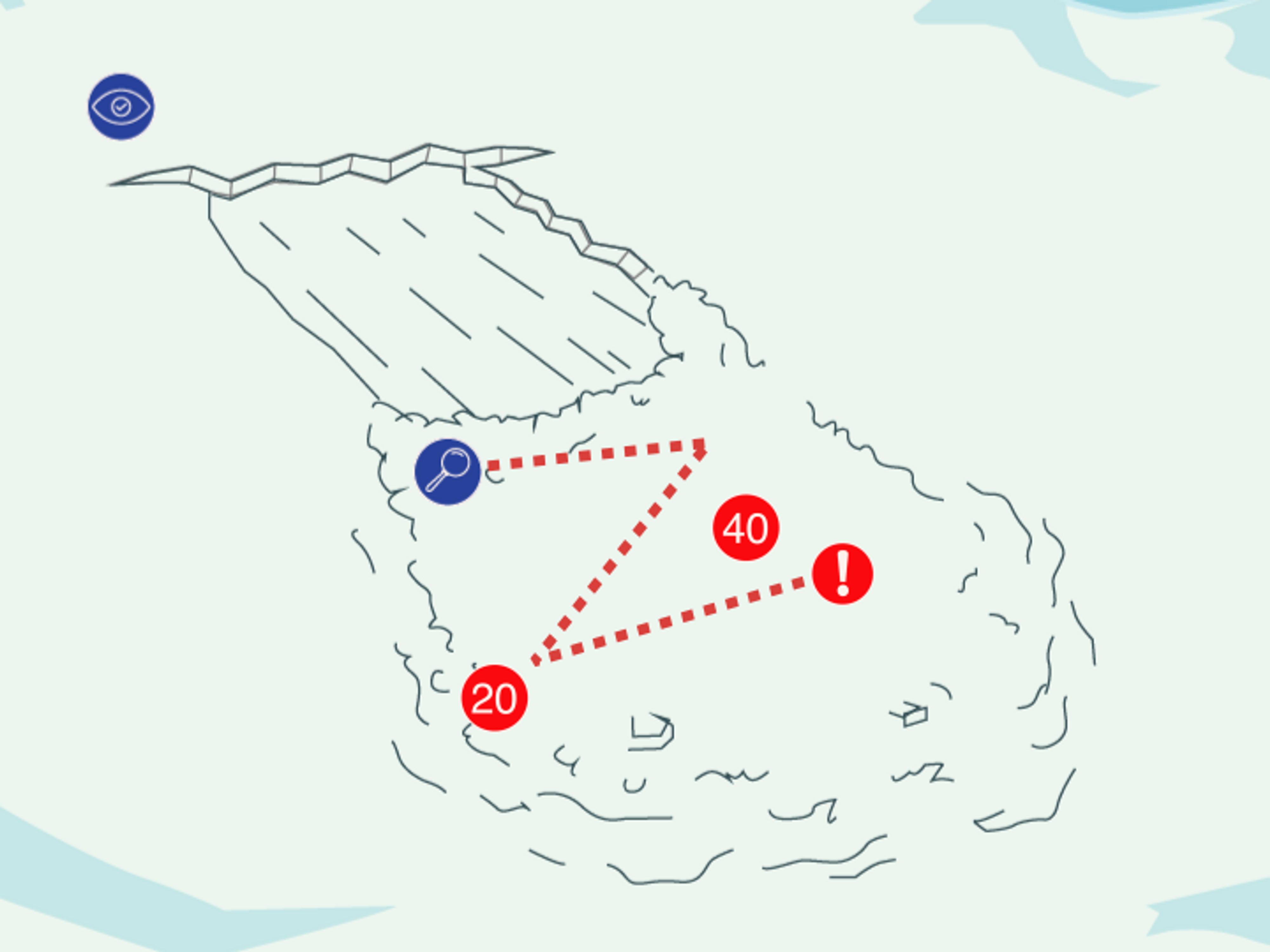 Diagram shows single searcher signal search