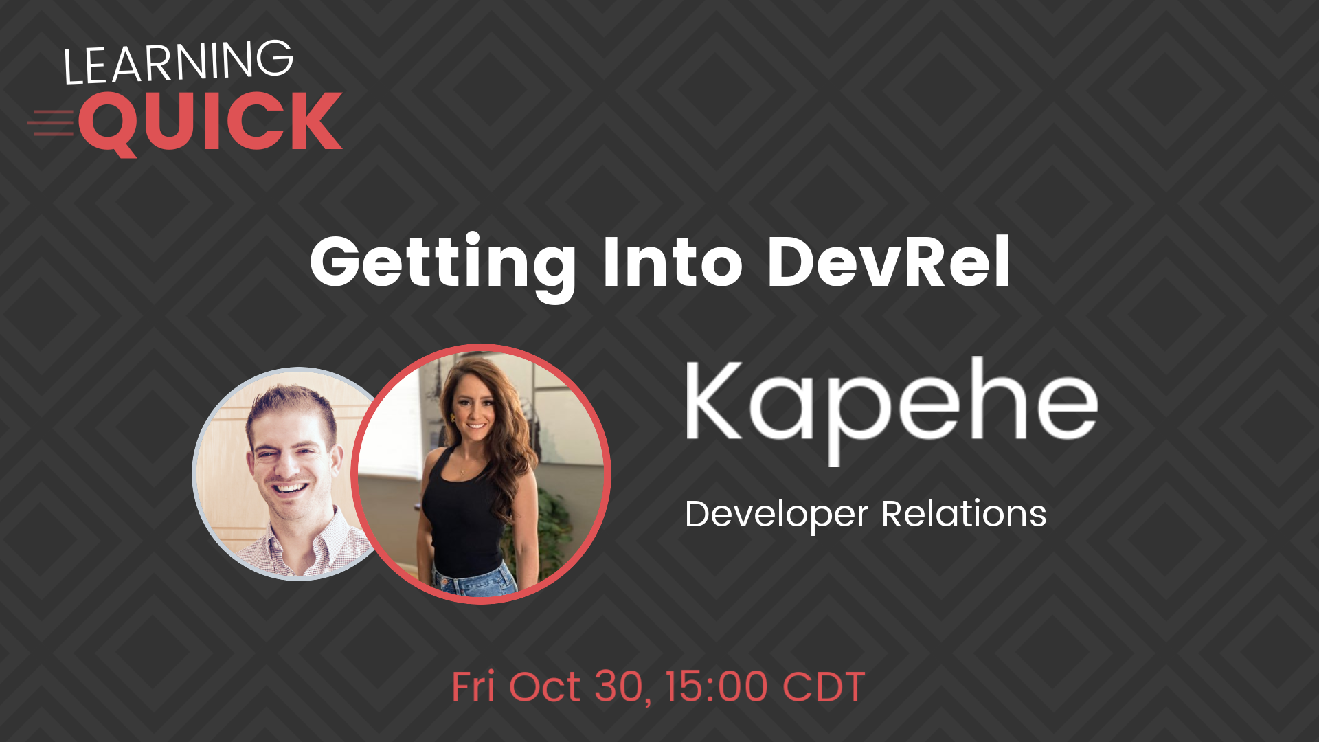 Getting Into DevRel with Kapehe
