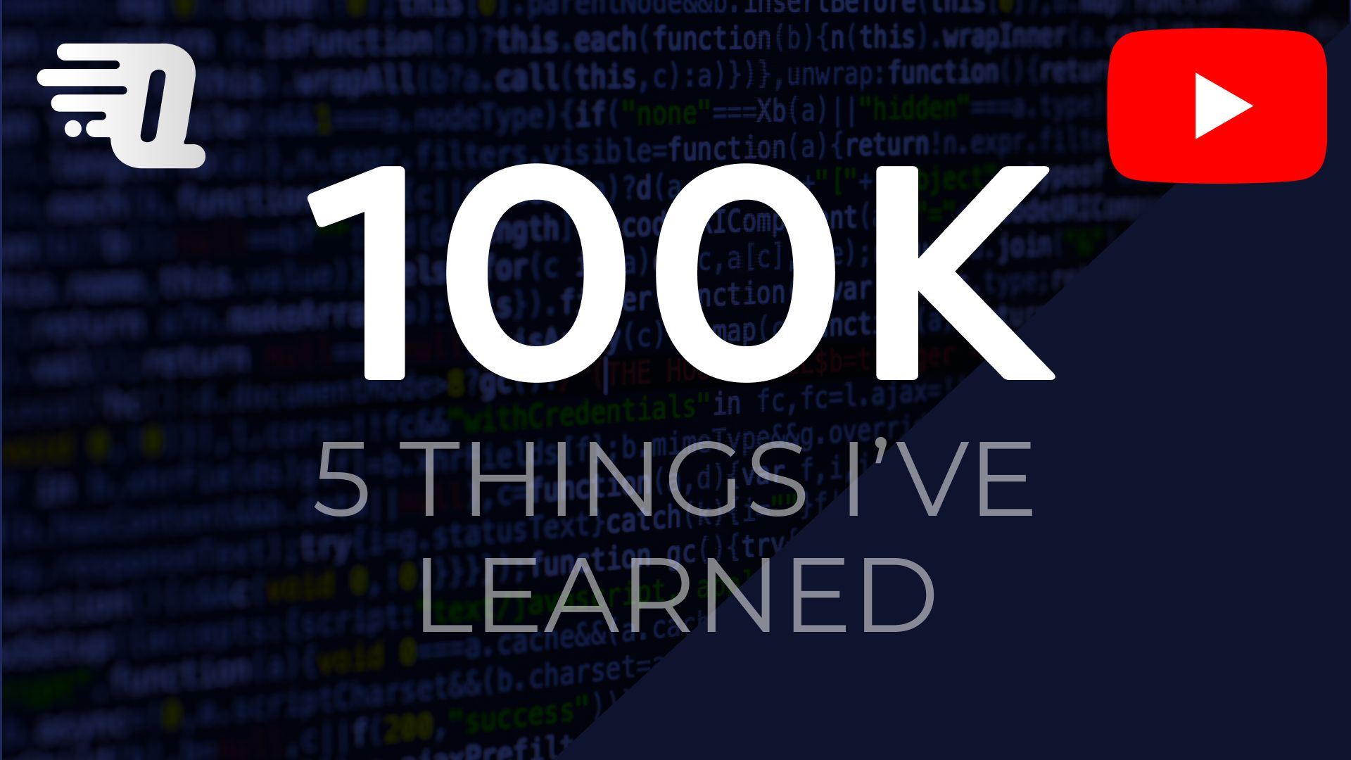 100k Subscribers On YouTube - 5 Things I Learned