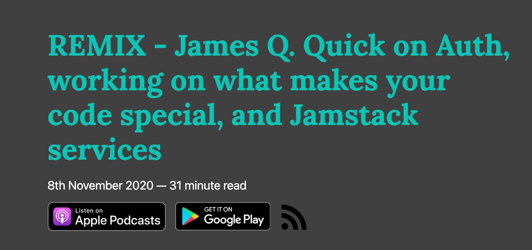 That's My Jamstack Remix