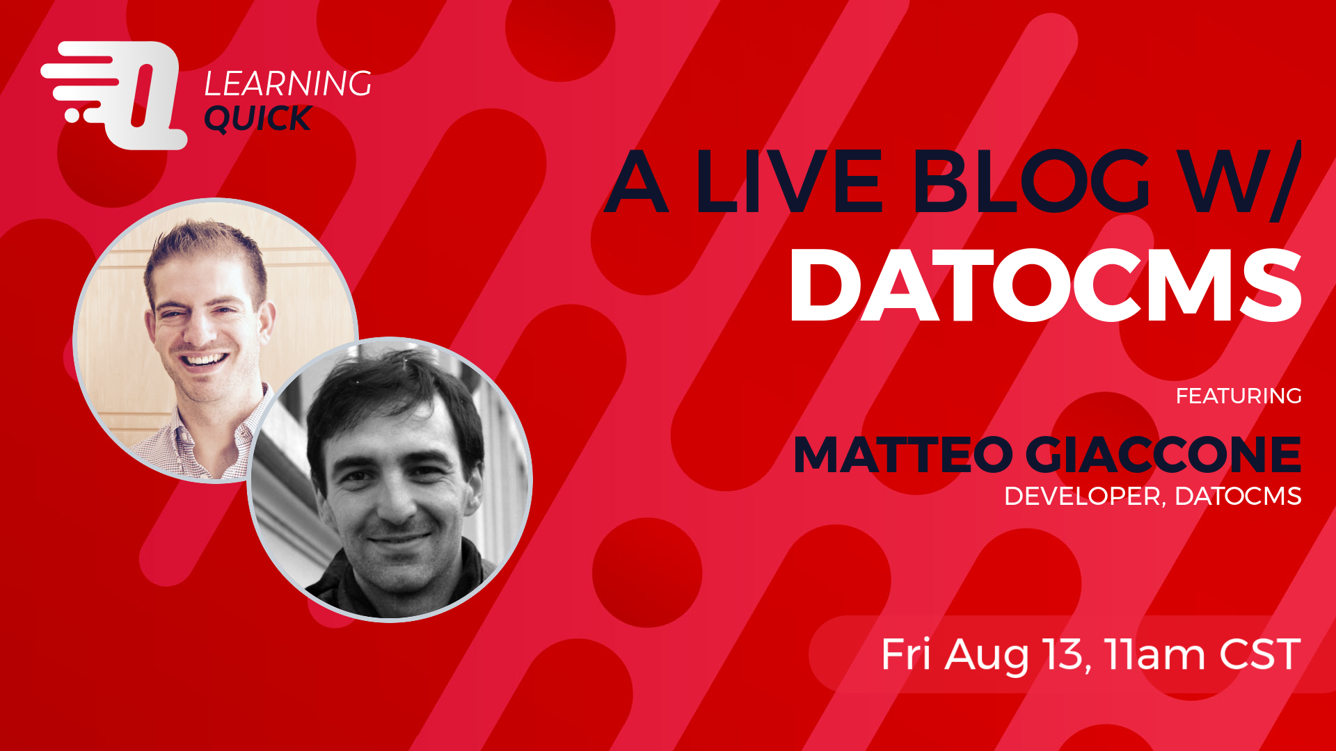 A Live Blog w/ DatoCMS with Matteo Giaccone