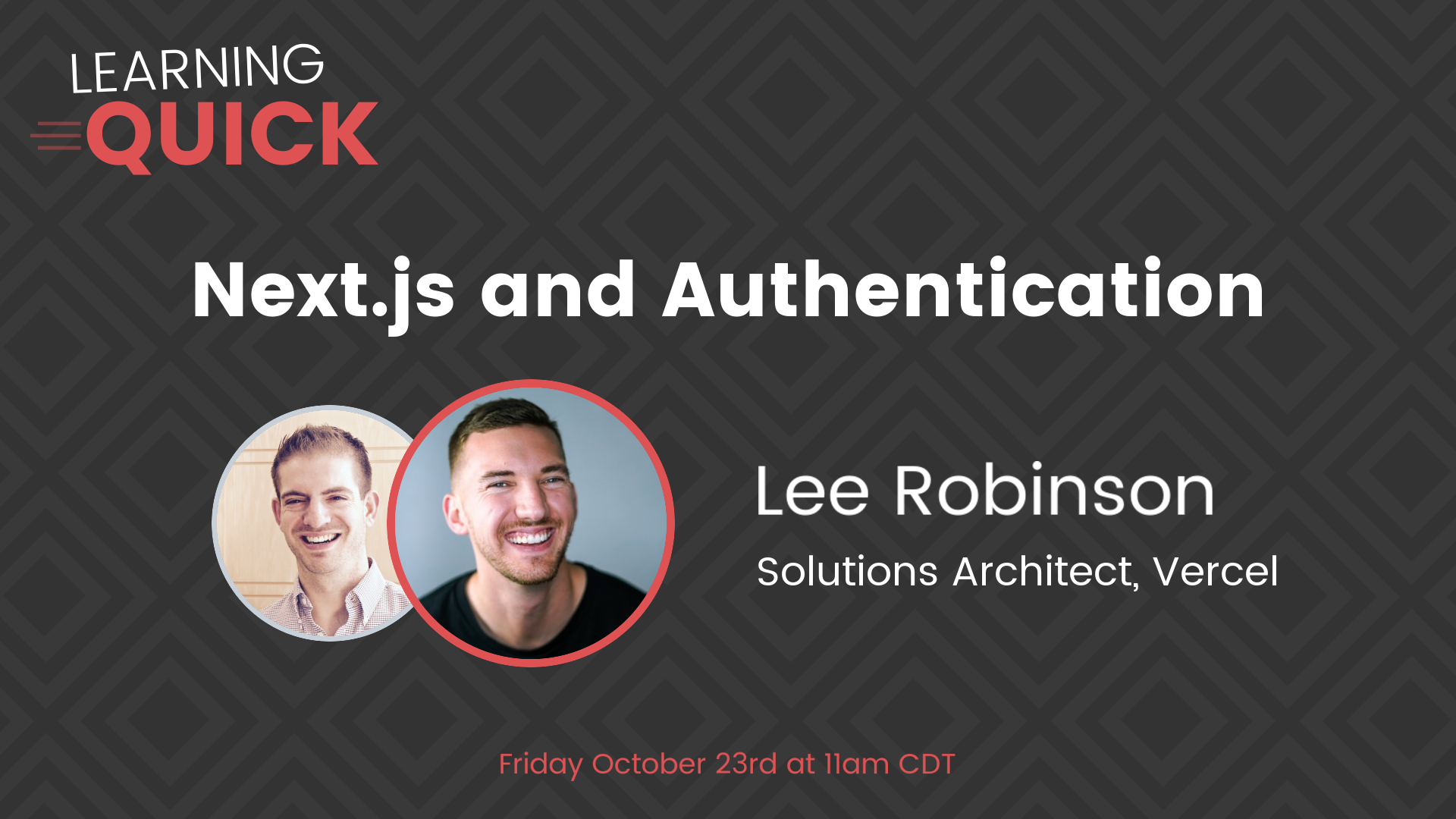 Next.js and Authentication with Lee Robinson