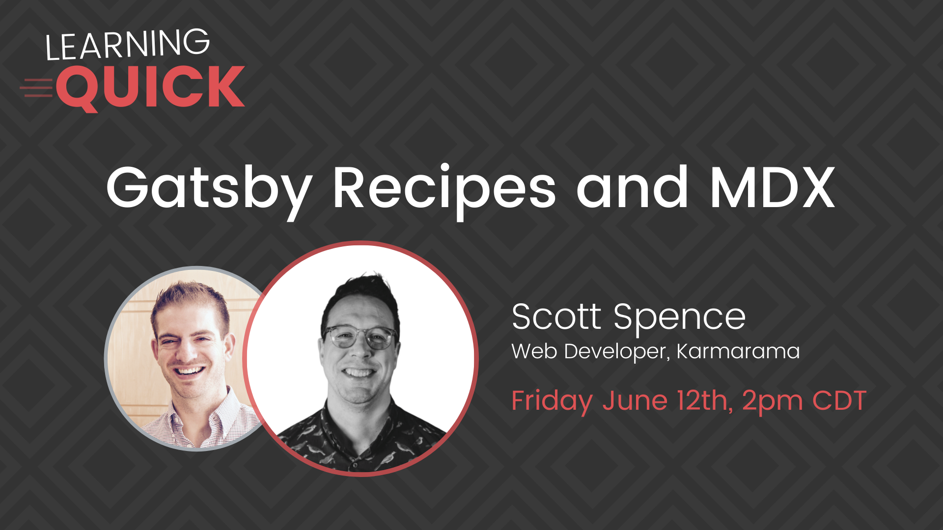 Gatsby Recipes and MDX with Scott Spence