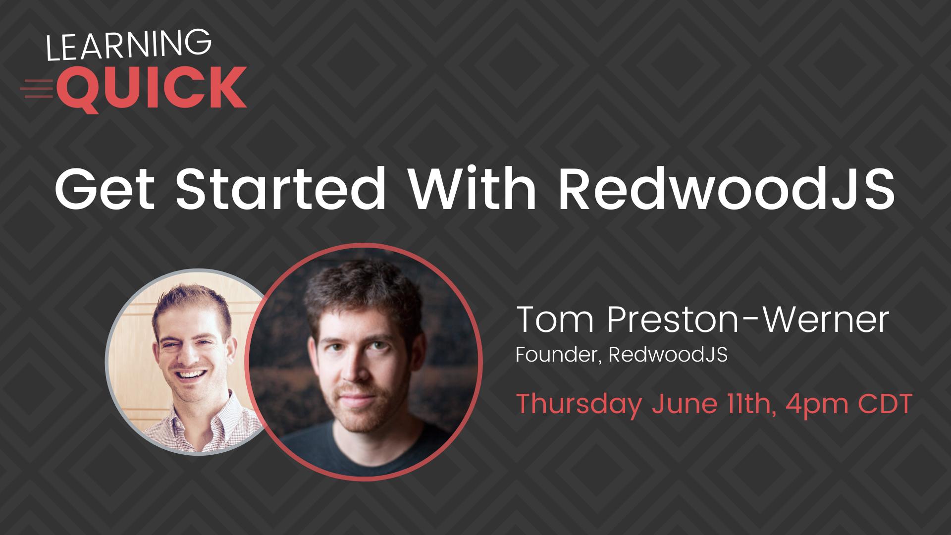 RedwoodJS with Tom Preston-Werner
