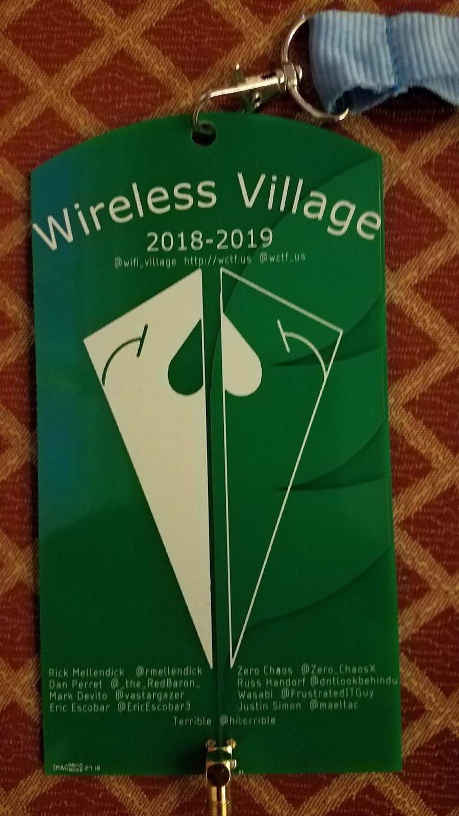 Wireless Village Antenna Badge
