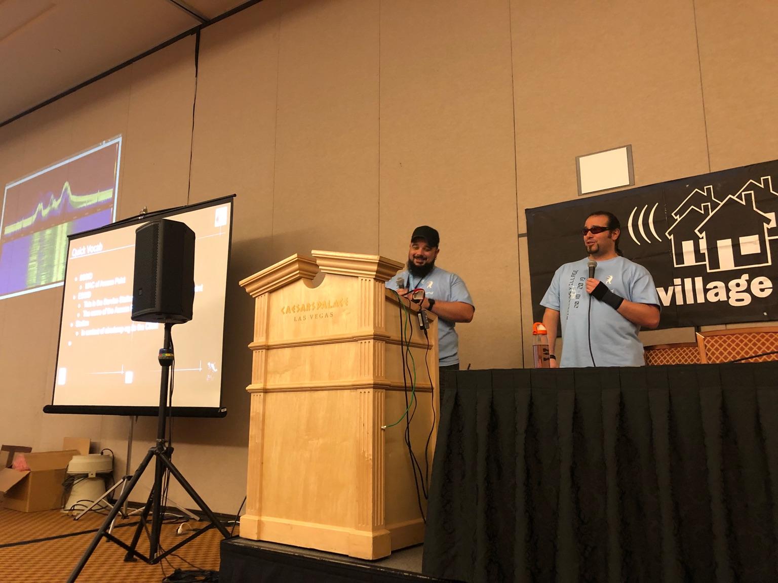 Zero and Wasabi at the podium