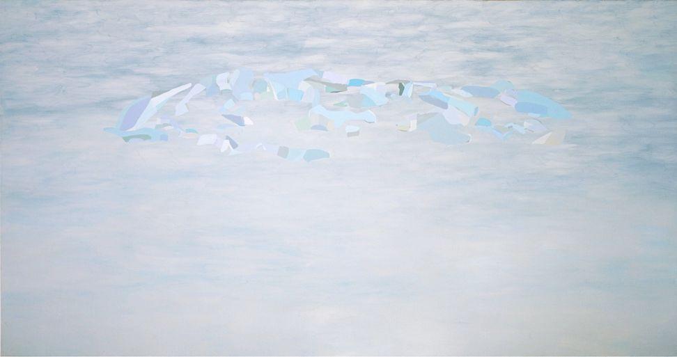 50 metros de distancia o más | Óleo sobre tela | 200 x 415.5 x 5 cm | 2010