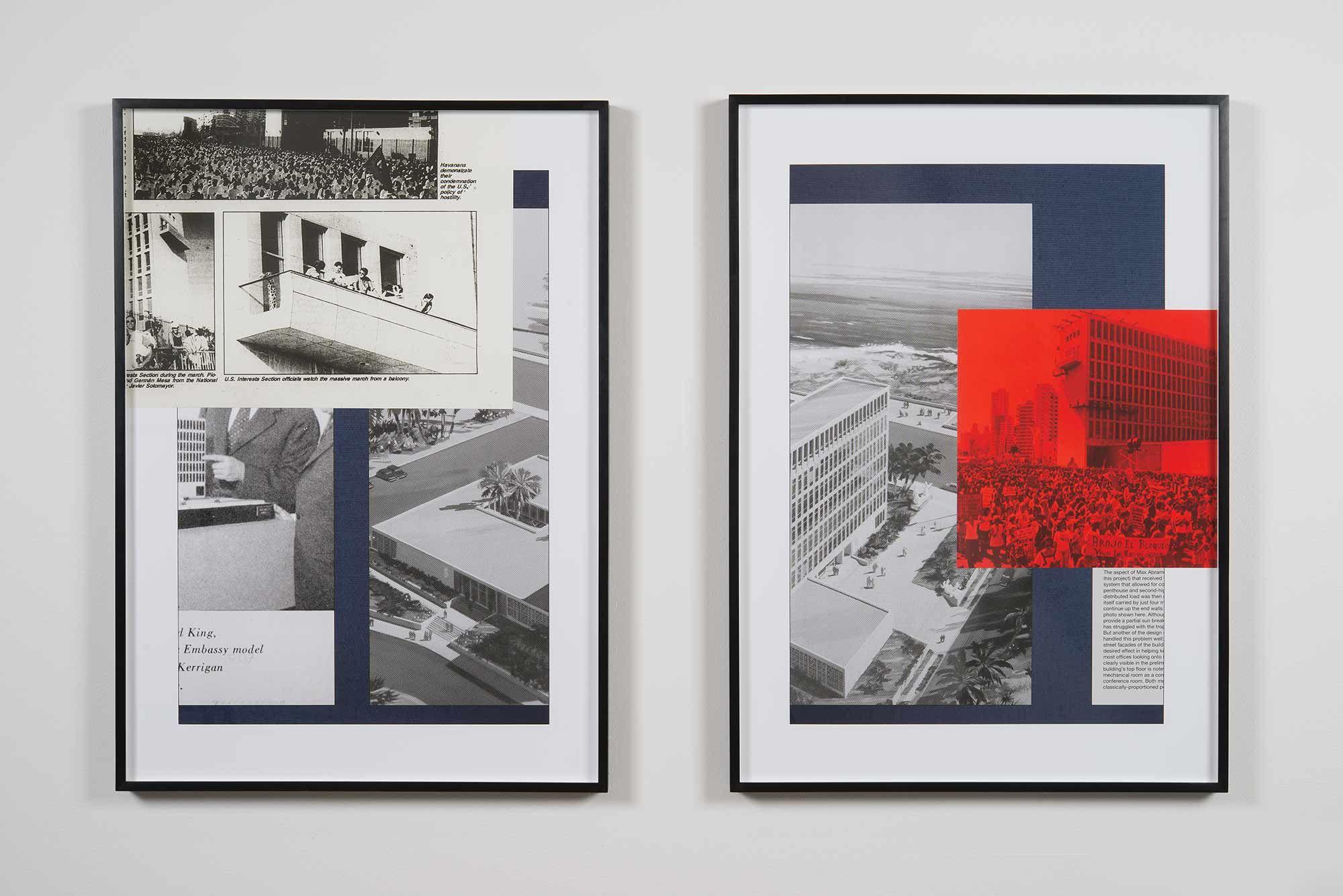 Political Services 4 | Impresión de pigmentos y collage | 86.36 x 60.96 cm | 2016