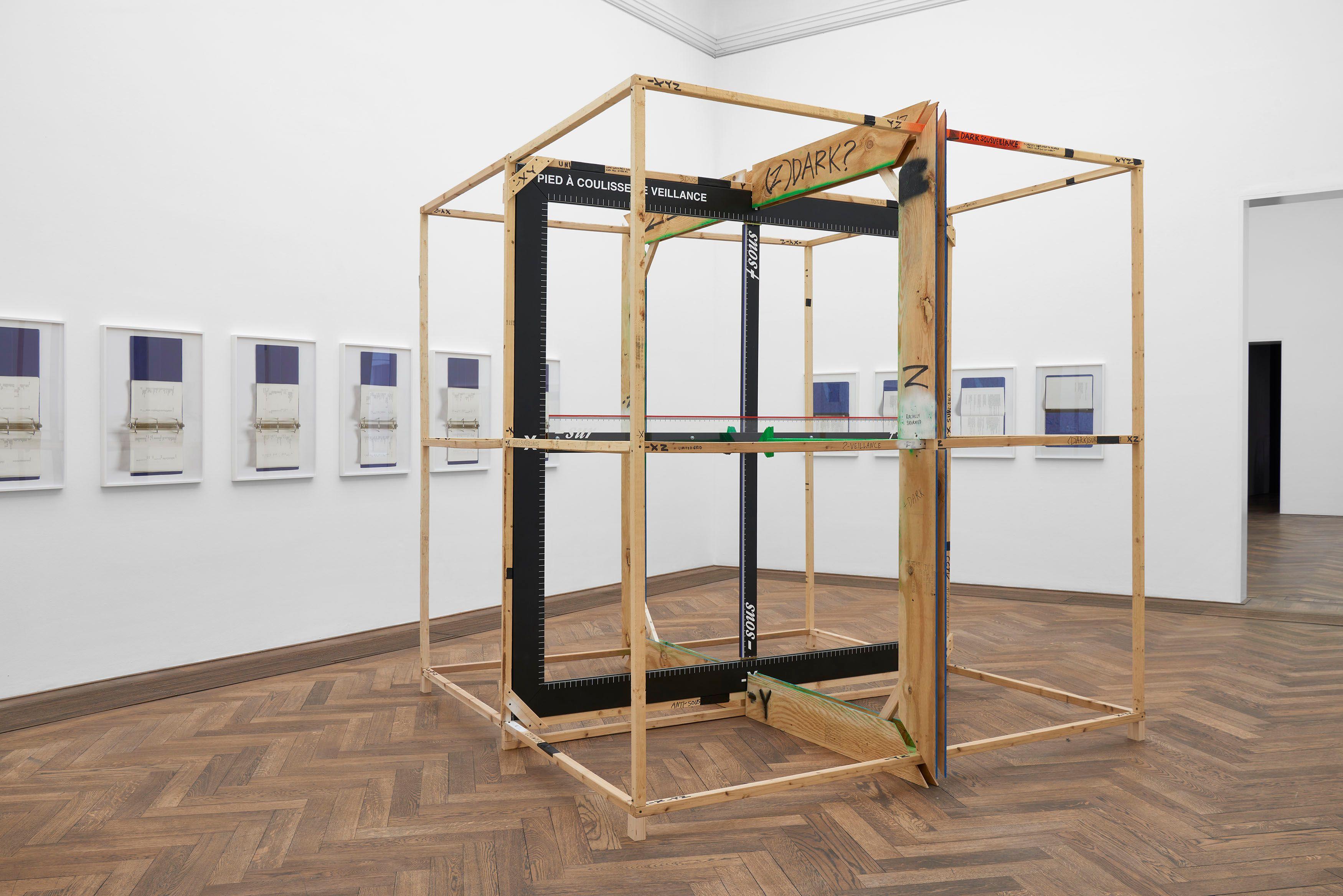 """Veillance Caliper (Annotated)"" de American Artist en la Kunsthalle Basel"