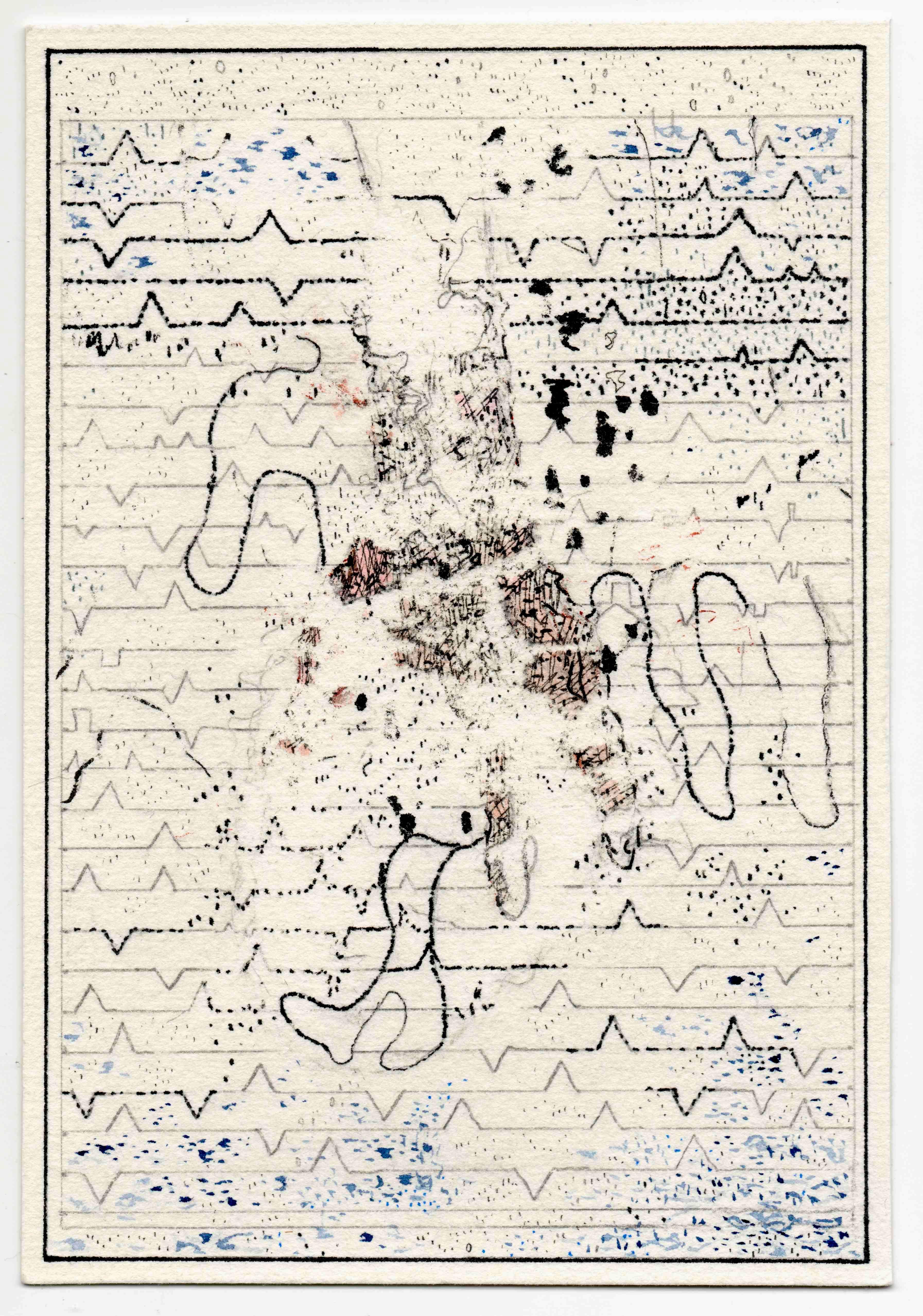 Clear Hands Tinta y lápiz sobre papel | 5.6 x 12.1 cm | 2016